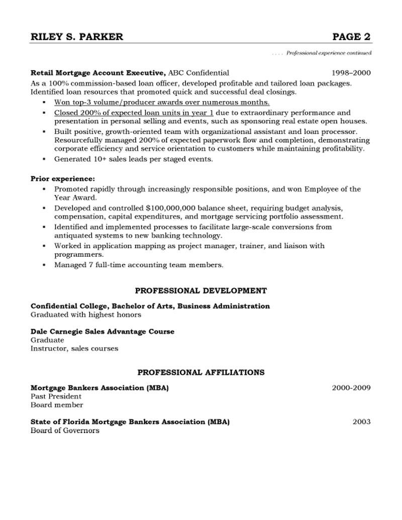sample resume account manager account executive resume example