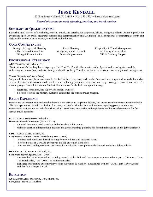 Travel Agent Resume
