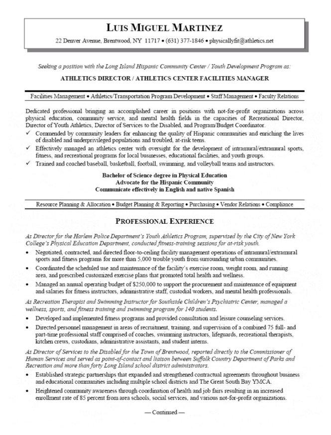 Facility Management Resume - Resume Sample
