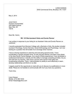 Hospitality Amp Tourism Cover Letter Samples