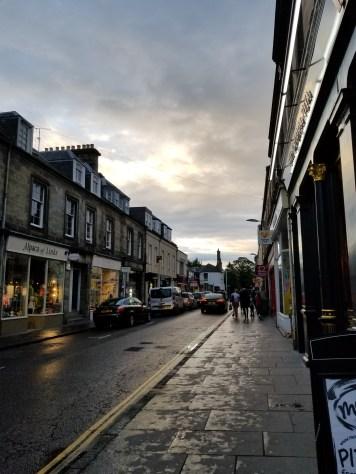 Quaint streets of Scotland