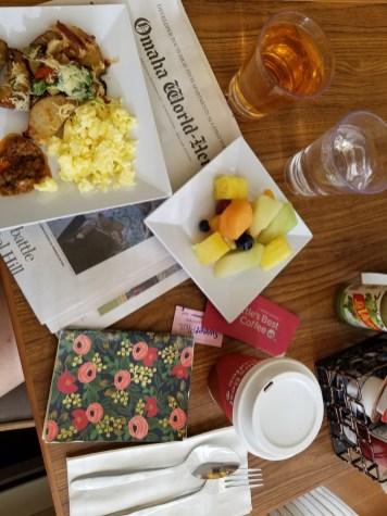 A hotel breakfast in Omaha