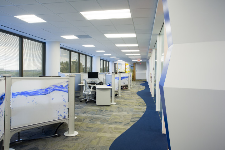 Natural light is not just for the privileged few in Kemira's Atlanta offices, where nearly everyone is near a window.