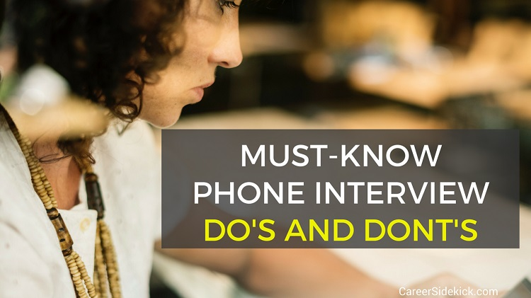 phone interview dos and donts