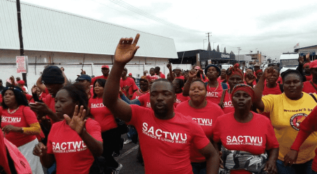 SACTWU protests in defense of local manufacturing