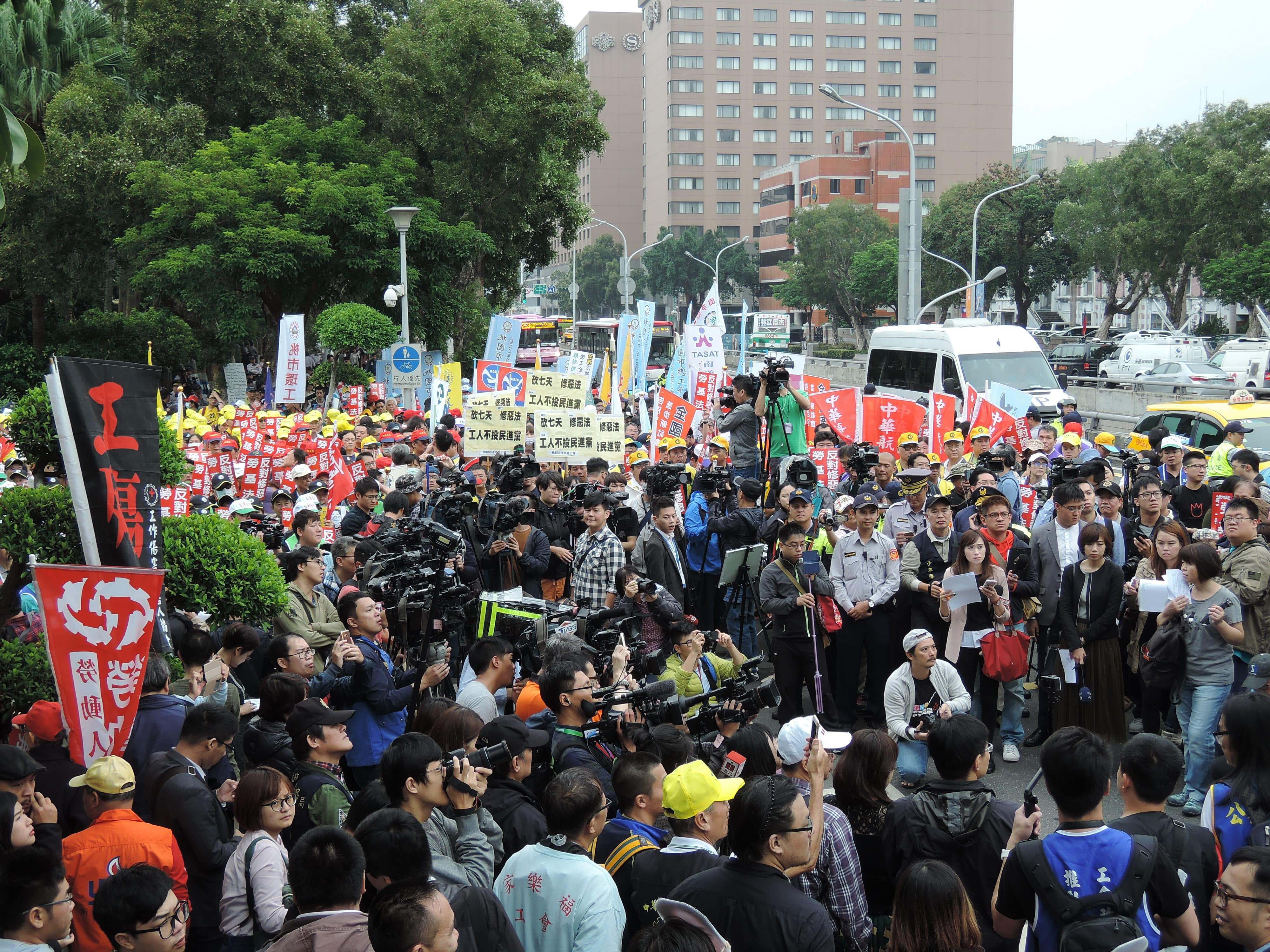 Taiwan: Trade unions condemn 'worst ever' labour law