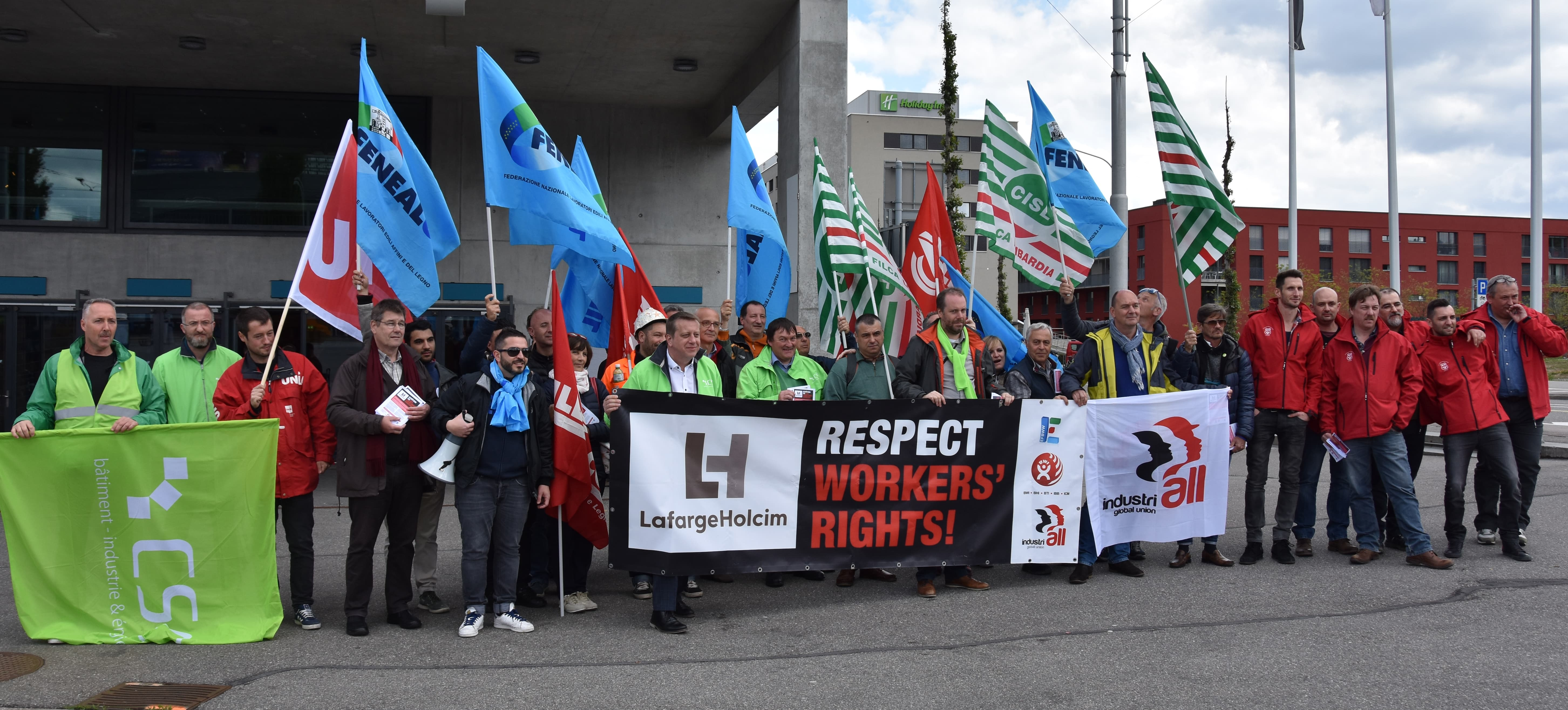 Unions demand LafargeHolcim honours its commitment and stops killing workers.