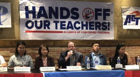International solidarity against teacher harassment