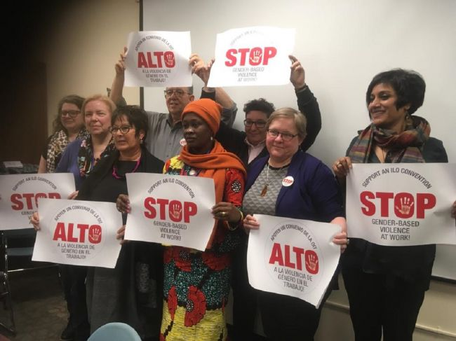 Stop gender-based violence in the world of work!