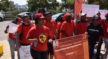 South African women's council pickets against sexual harassment at UNISA