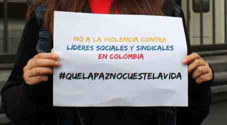 Colombia: increasing violence against union leaders