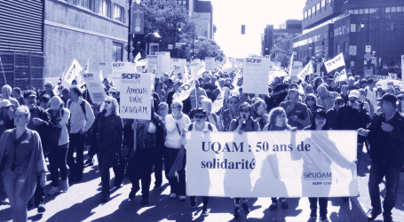 Historic demonstration and massive support for UQAM strikers