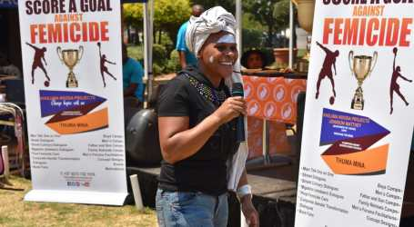 Campaign to stop gender-based violence kicks off at South African factory