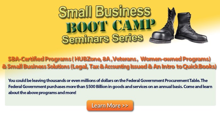 Small Business Boot Camp Series: SBA-Certified Programs