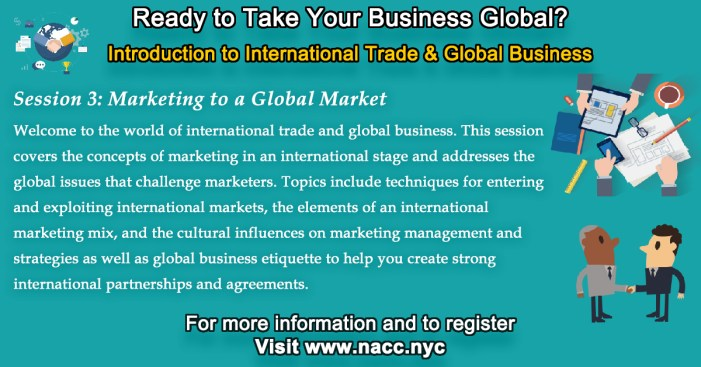 International Trade & Global Business: Marketing to a Global Market