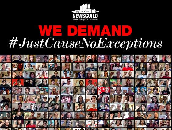 Media Workers Demand #JustCauseNoExceptions in Coordinated Day of Action to Protect Essential Worker Protection