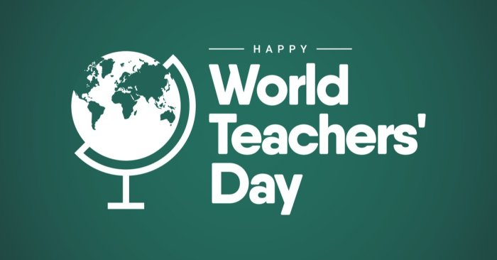 Today is World Teachers' Day