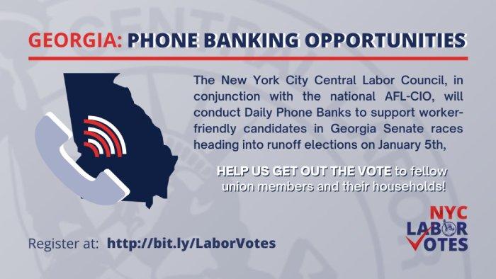 Volunteers Needed for Phonebanking to Georgia Union Households