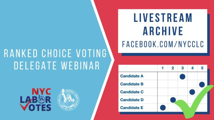 NYC CLC Ranked Choice Voting Webinar Available Now!