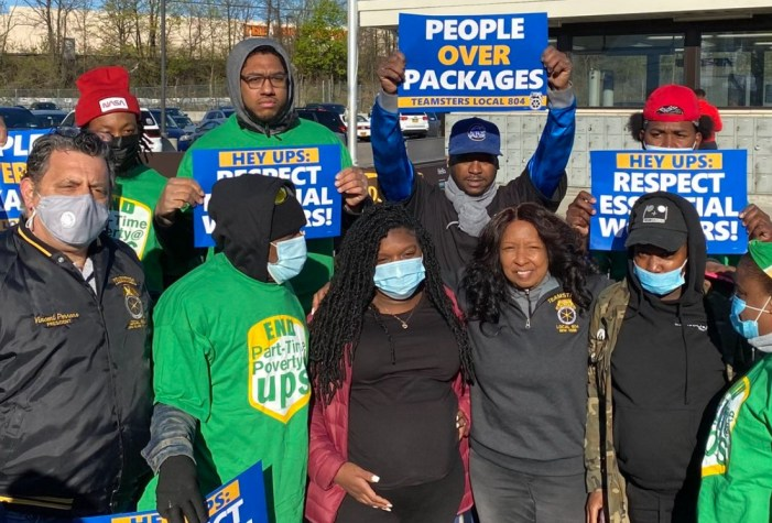Dozens Rally in Support of Essential Workers Unjustly Fired by UPS