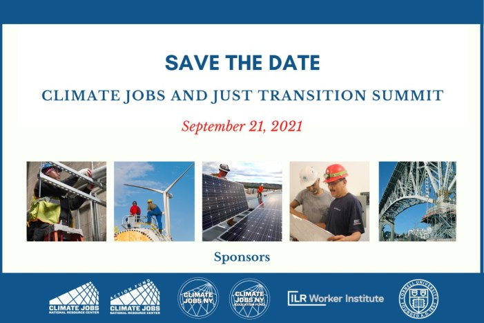 Save the Date: 2021 Climate Jobs and Just Transition Summit