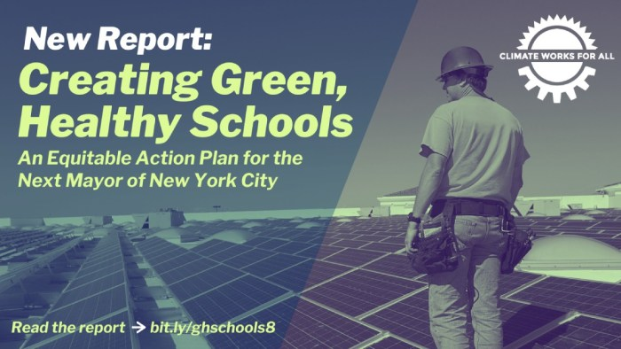 #GreenHealthySchools Report and Plan for Solar Energy and HVAC Systems at City's Public Schools