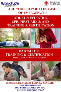 Adult First Aid/CPR/AED/Pediatric Online and Classroom Training @ WorkFlow Lounge | Sacramento | California | United States