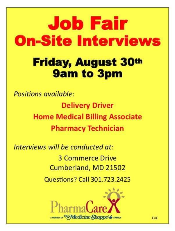 PharmaCare Job Fair - August 31, 2019