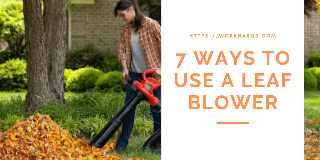 7 Ways To Use A Leaf Blower