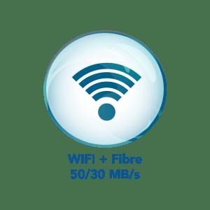 Connexion Fibre et wifi jusqu'à 50 MB/s