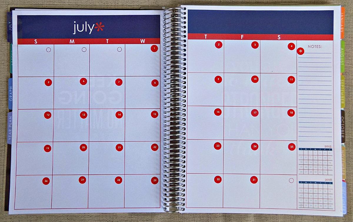 Month Spreadsheet