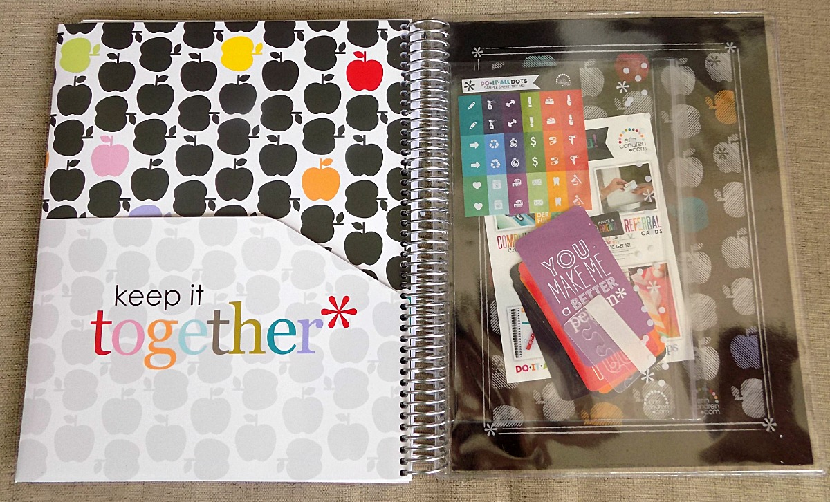 """""""Keep it Together"""" double-sided folder, clear pouch, and zip pouch"""