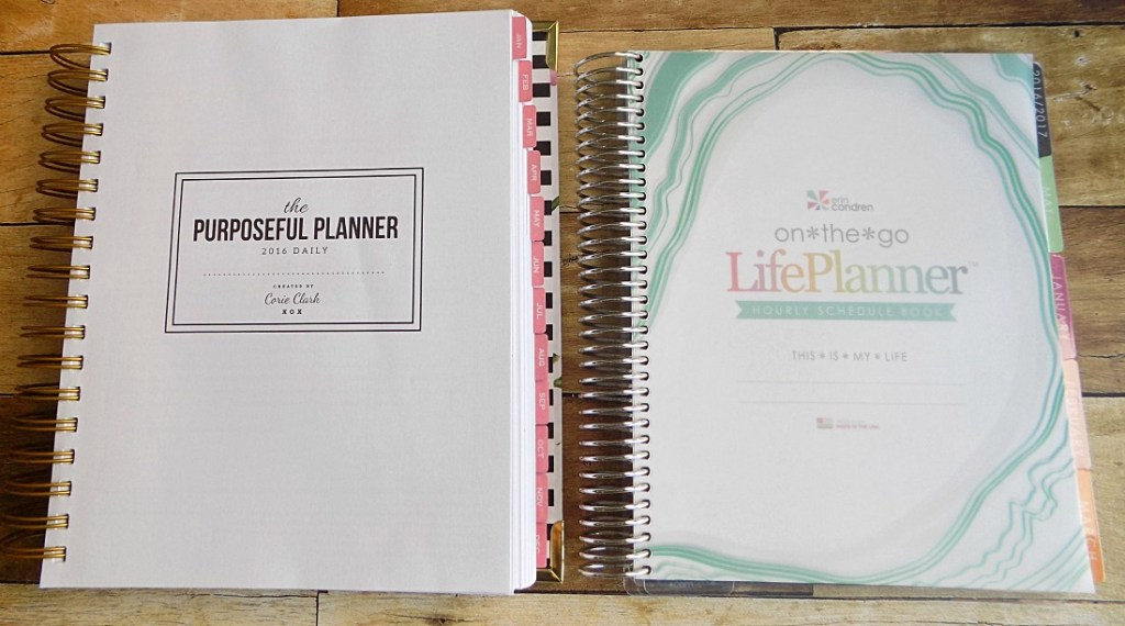 The first pages of The Purposeful Planner and the EC Life Planner