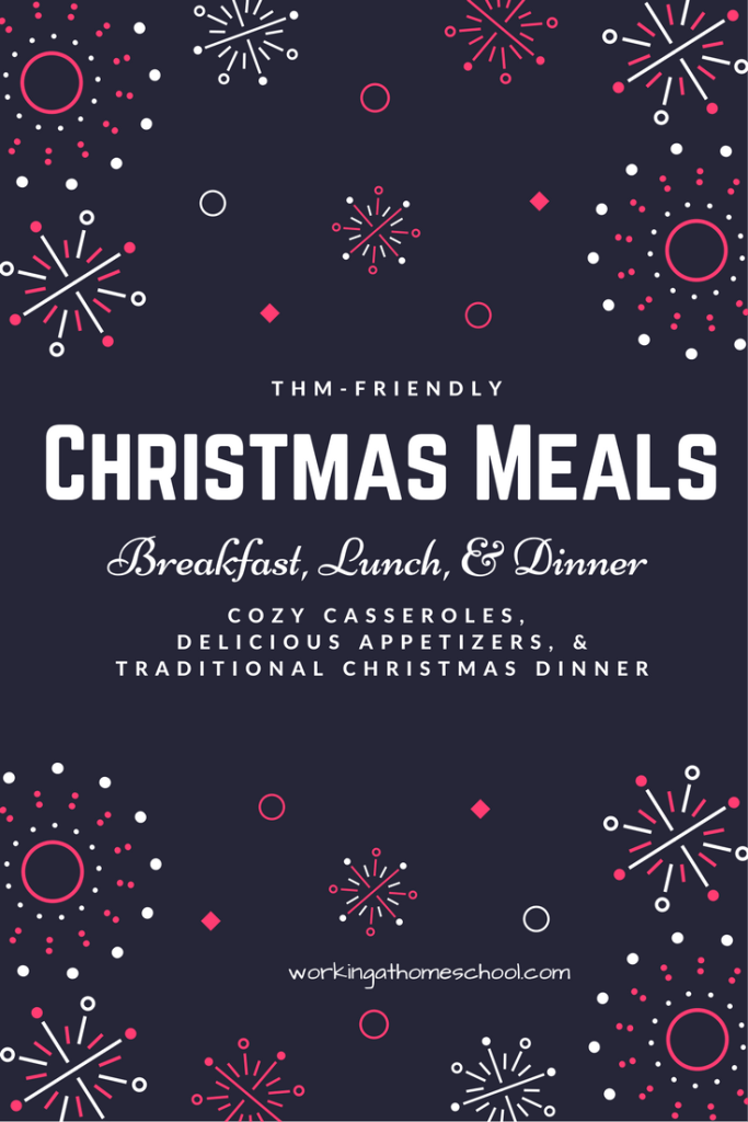 One full day of Christmas meals with printables! Works for Trim Healthy Mama!