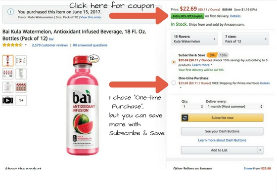 Coupon for Bai 5