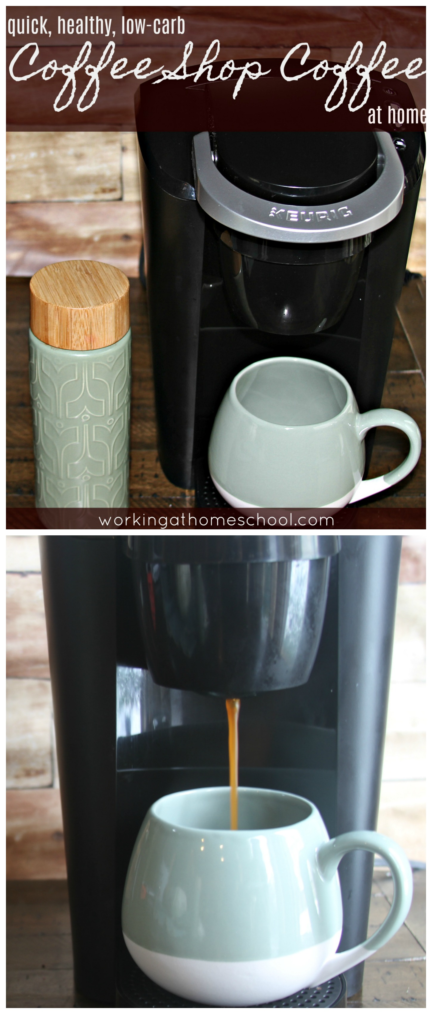 "Quick, easy, delicious coffee at home! Low-Carb, Trim Healthy Mama ""S"", Paleo, Whole 30"