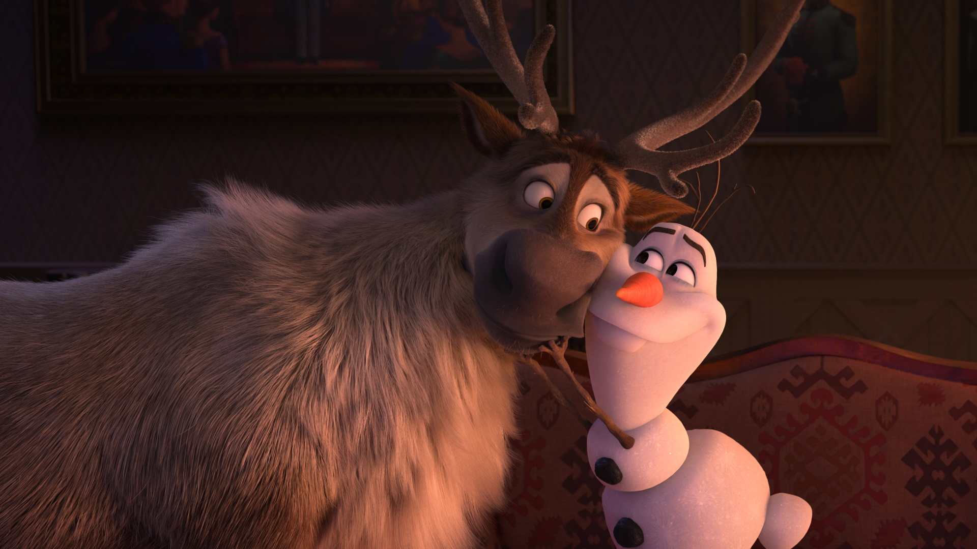 """Sven and Olaf in """"Frozen 2""""."""