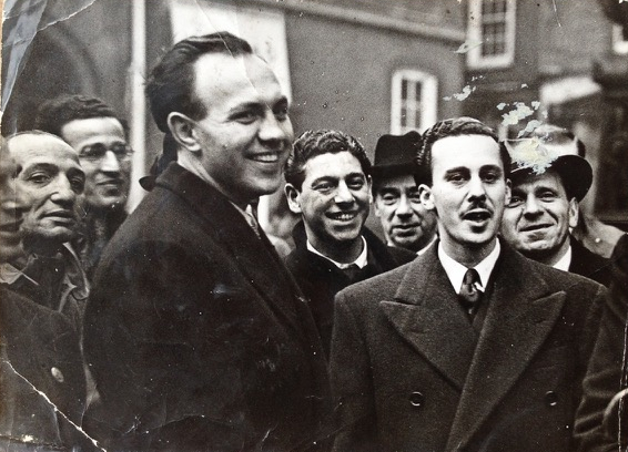 Flamberg & Wimborne after their acquittal and release