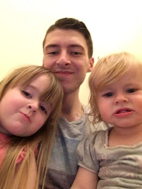 Maisie, Evie & Daddy