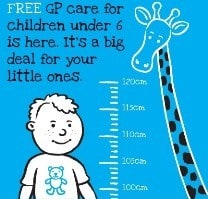 Free GP Care for under 6 year olds Ireland