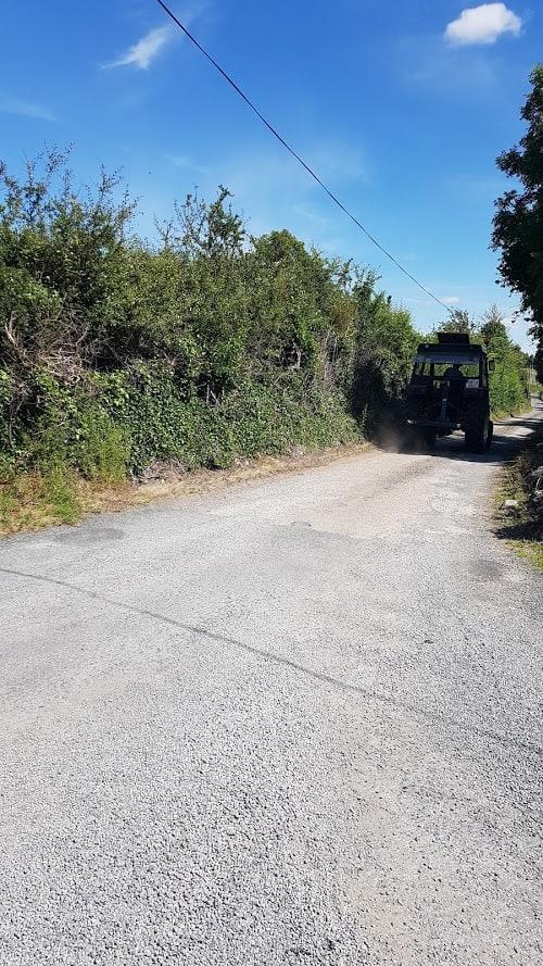 tractor on Gort's mini-greenway