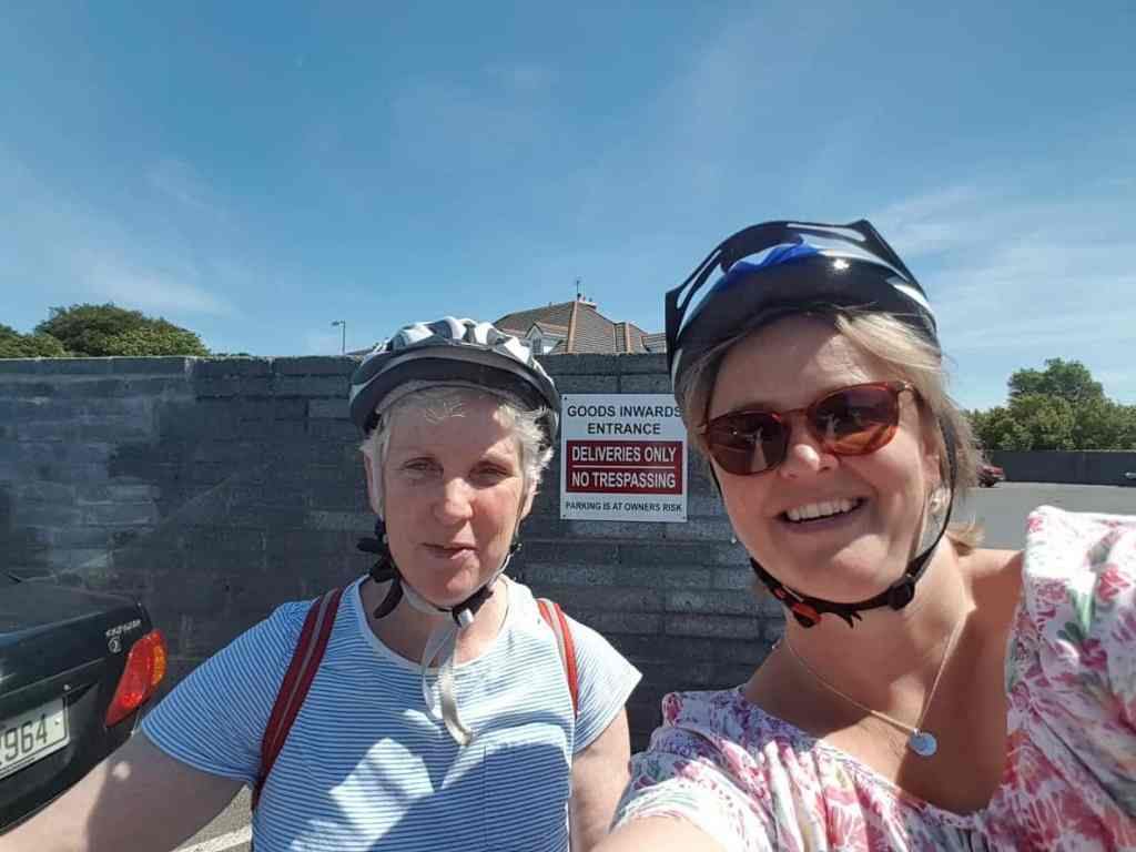 Karen and myself setting out for our cycle