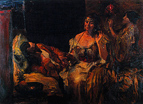 """Max Slevogt (""""Scheherezade tells her stories,"""" painting by Max Slevogt. Public domain in the U.S.)"""