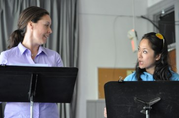 """France Perras and Agnes Tong in reading of """"The Toilet Paper Caper"""" at the Firehall Arts Centre. Photo by Chuk Foto (2012)"""