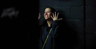 Suehyla El-Attar as dramaturg in an EWL rehearsal of Theroun D'Arcy Patterson's AMERICAN DISMANTLE