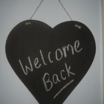 welcome back heart to symbolise return to work