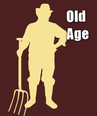 Picture of an older worker with a shovel