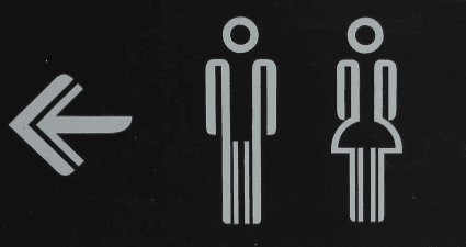 Sign on toilets for men and wormen who suffer with incontinence