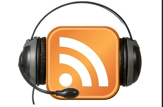 RSS feed with headphones