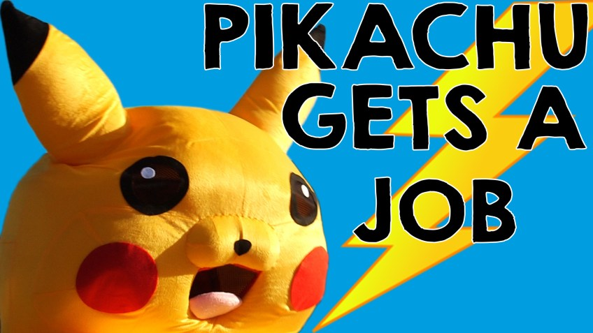 Pikachu gets a job